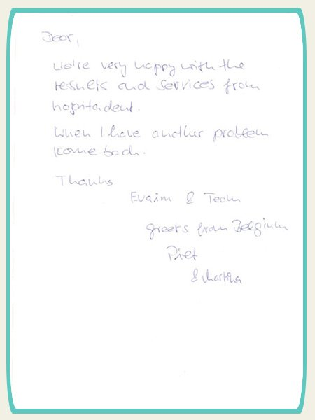Patient Testimonial about Hospitadent