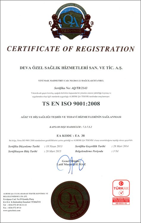 Hospitadent Certificate of Registration