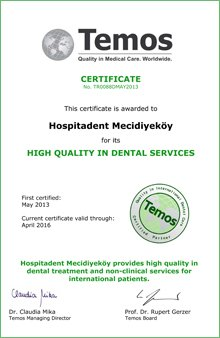 Hospitadent Quality in Medical Care Certification