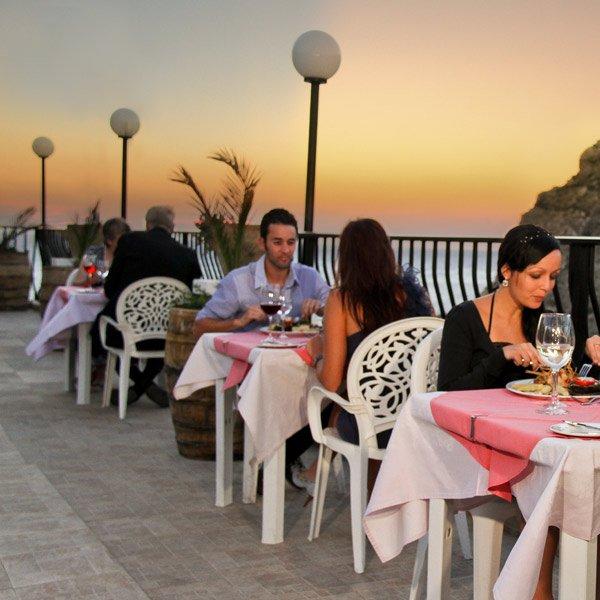 Dining at Hotel Xlendi in Gozo Malta