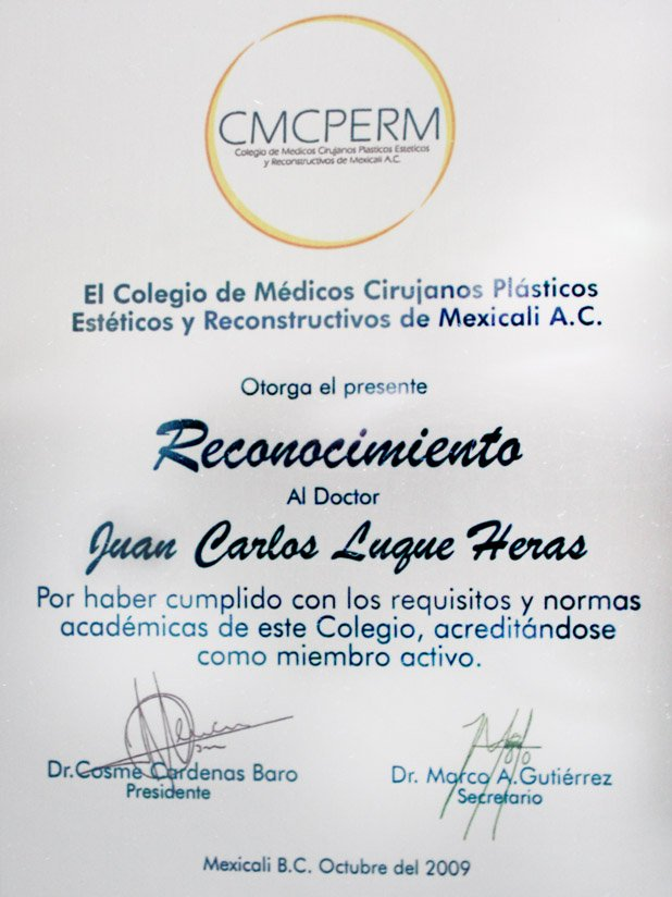 Diploma of Dr. Juan Luque