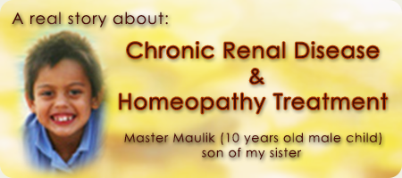 Chronic Renal Disease Homeopathy Treatment India