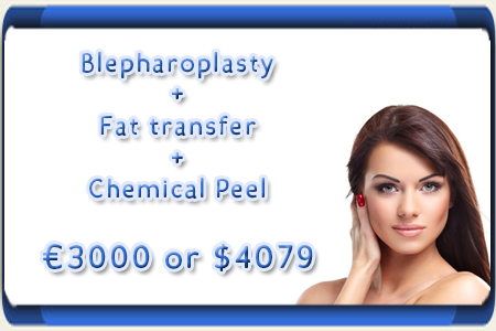 Cost of Blepharoplasty, Fat transfer and Chemical Peel Package