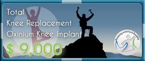 Total Knee replacement in India Cost Oxinium Knee Implant