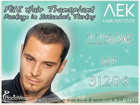 FUE Hair Transplant Cost in Istanbul Turkey