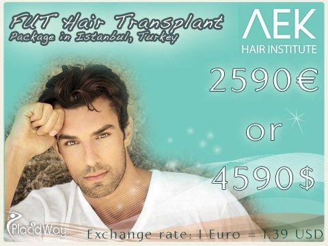 FUT Hair Transplant Cost in Istanbul Turkey