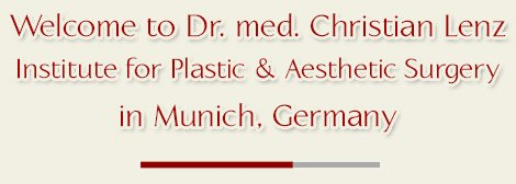 Cosmetic Surgeon in Munich Germany Dr. Lenz