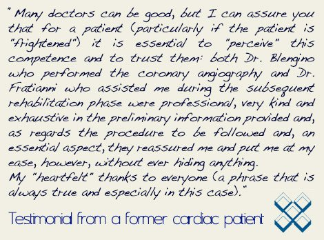 Cardiac Surgery and Rehabilitation Patient testimonial Italy