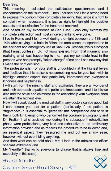 Cardiac Patient Testimonial Italy