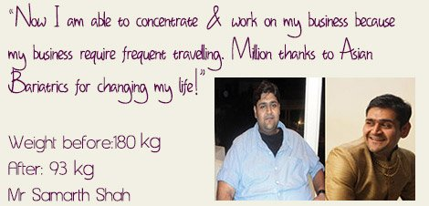 Before and After Obeity Surgery in India Asian Bariatrics testimonial 1