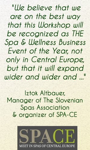 Event Organizers Spa and Wellness Trade Show Slovenia 2014