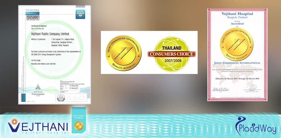 Vejthani Hospital in Thailand International Accreditations
