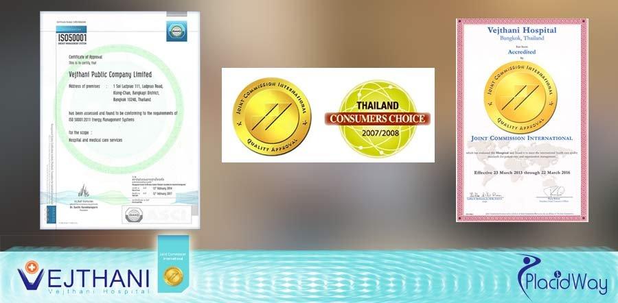 Vejthani Hospital in Thailand International Accreditations