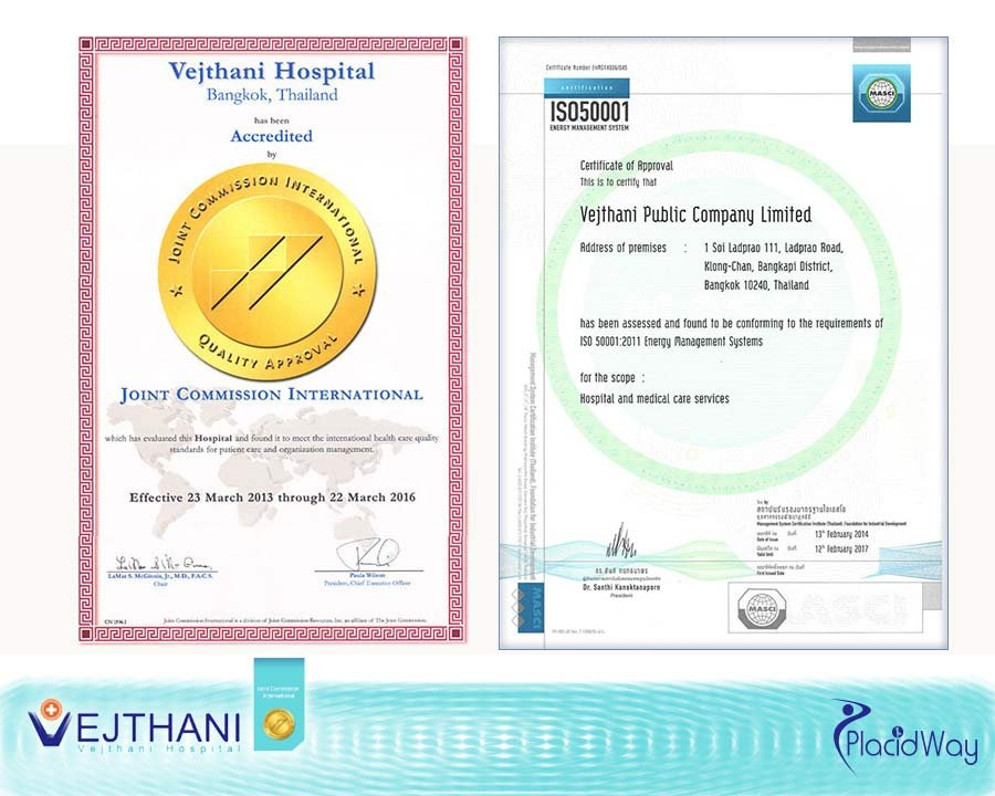 Vejthani Medical Hospital International Awards Accreditations