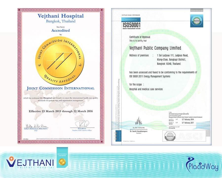 Vejthani Medical Hospital International Awards Accreditations