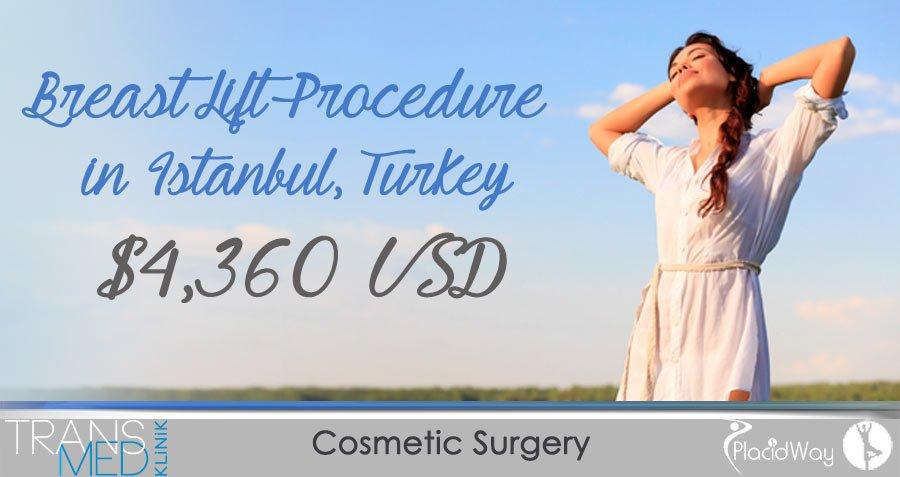 Price of Breast Lift Procedure - Istanbul, Turkey