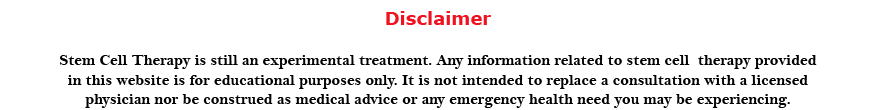 Disclaimer Stem Cell Therapy