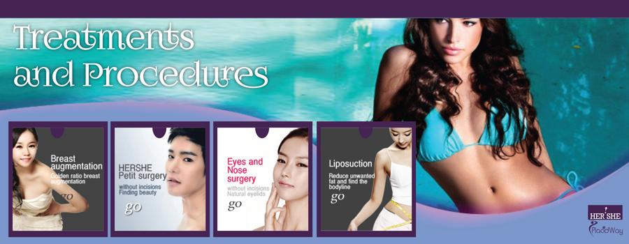 Treatments and Procedures HERSHE Plastic Surgery & Dermatology  Seoul, South Korea