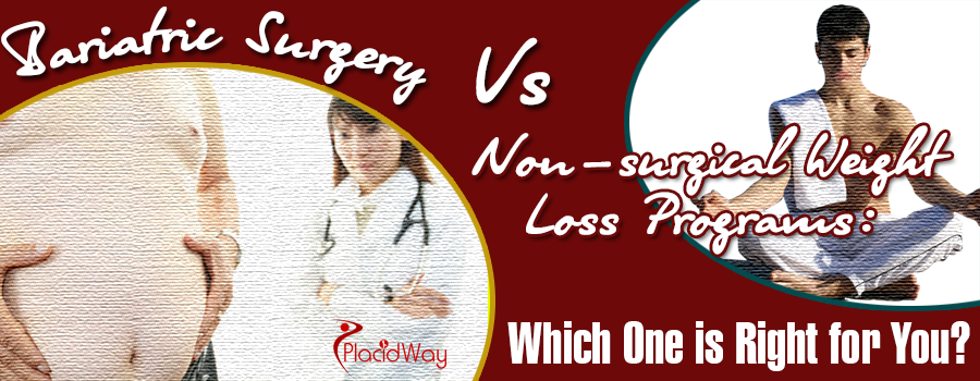 Choosing between bariatic surgery over non-surgical weight loss program