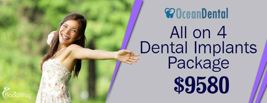 Cost All on 4 Dental Implants Package in Cancun, Mexico
