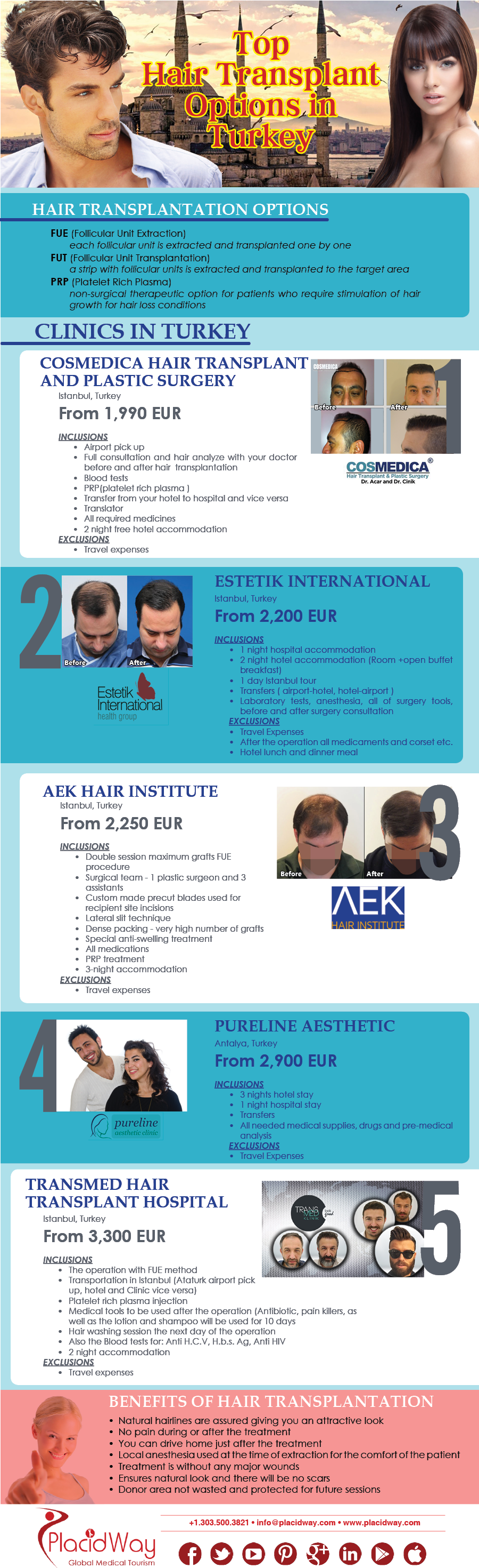 Infographics: Top Hair Transplant Options in Turkey