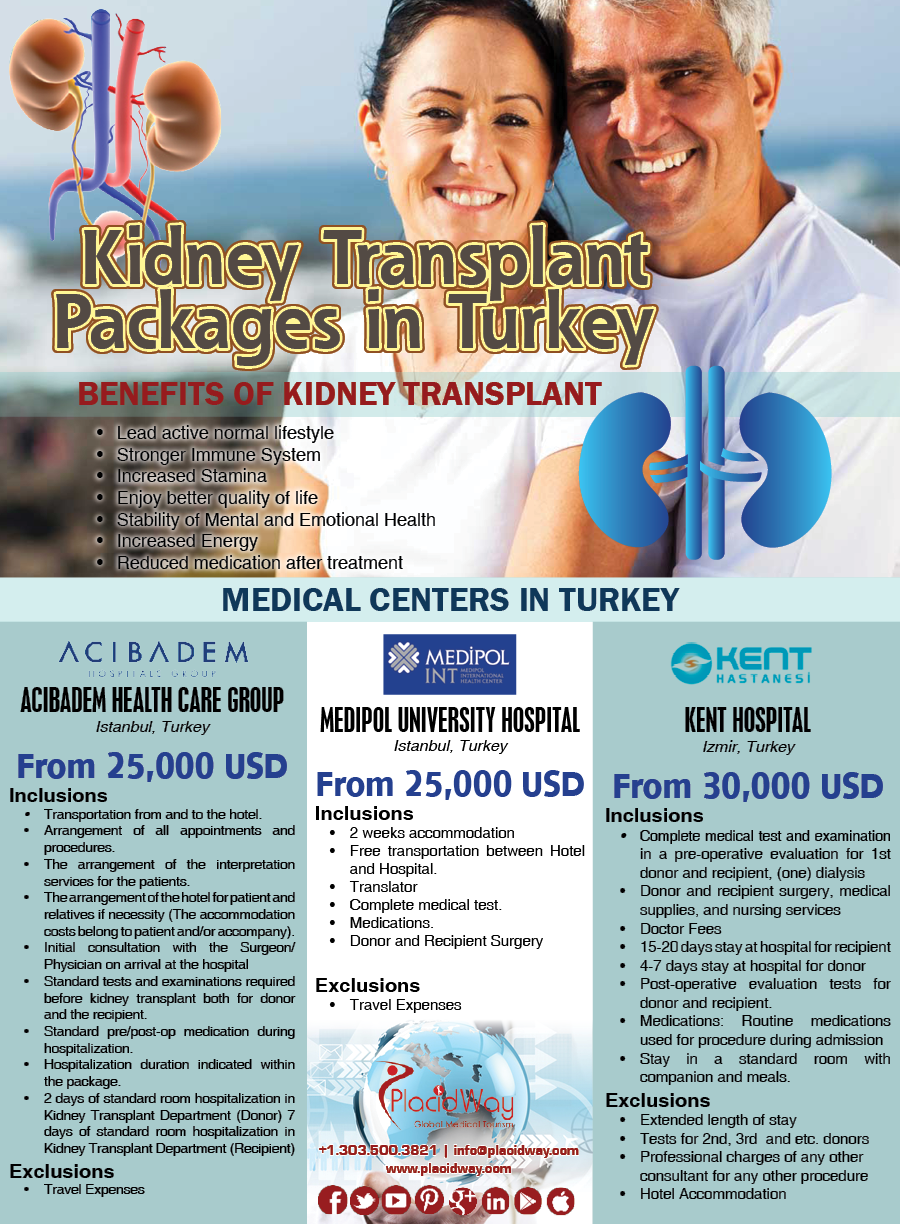 Infographics: Kidney Transplant Package in Turkey