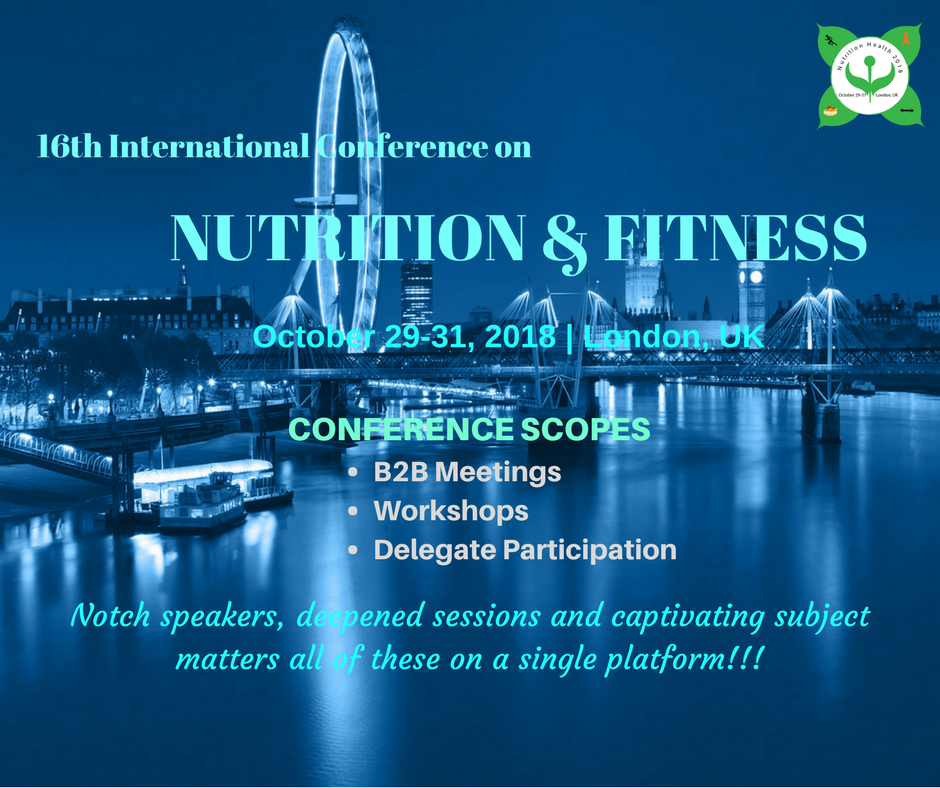 16th International Conference on Nutrition and Fitness
