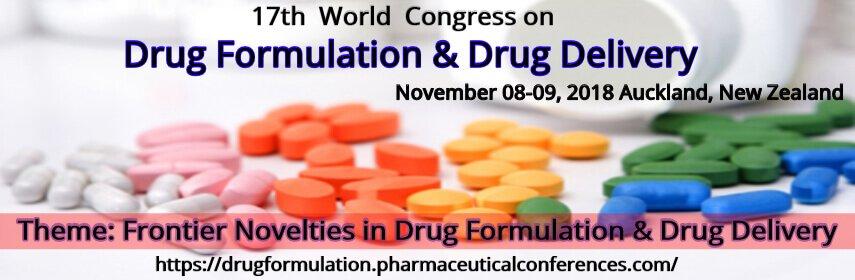 17th  World  Congress on Drug Formulation & Drug Delivery