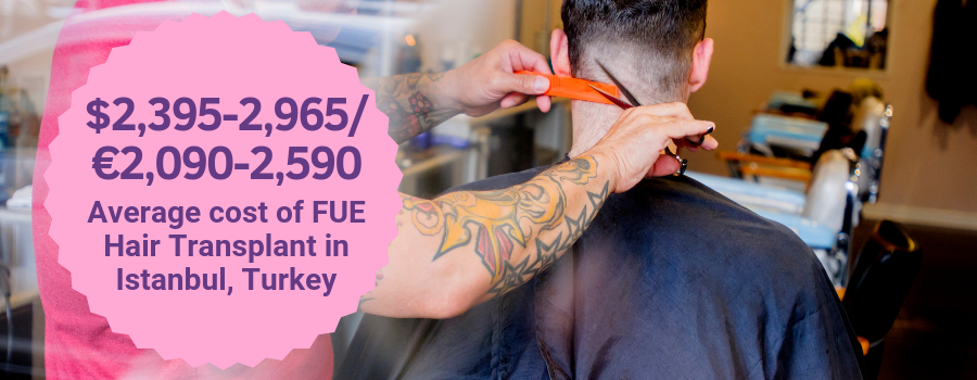 Cost of FUE Hair Transplant in Istanbul, Turkey