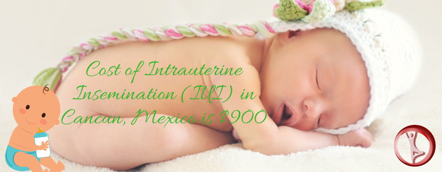 Cost of Intrauterine Insemination (IUI) in Cancun, Mexico is $900