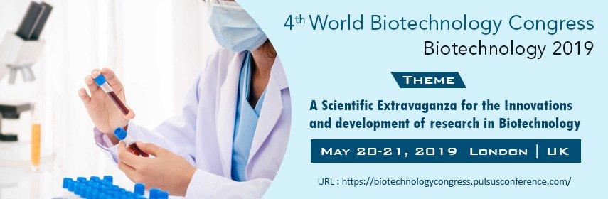 4th World Biotechnology Congress