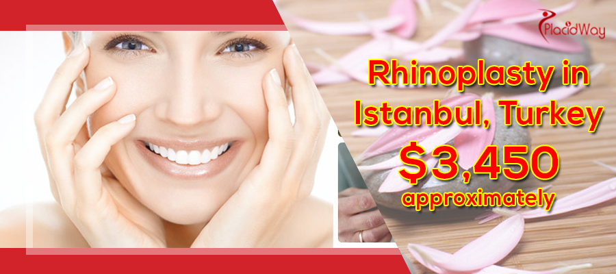 Cost of Rhinoplasty starts from $3,450 approximately in Istanbul, Turkey