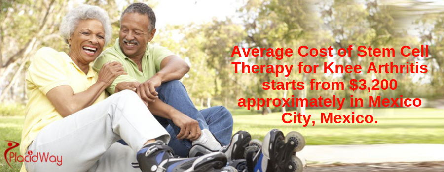 Average Cost of Stem Cell Therapy for Knee Arthritis starts from $3,200 approximately in Mexico City, Mexico.