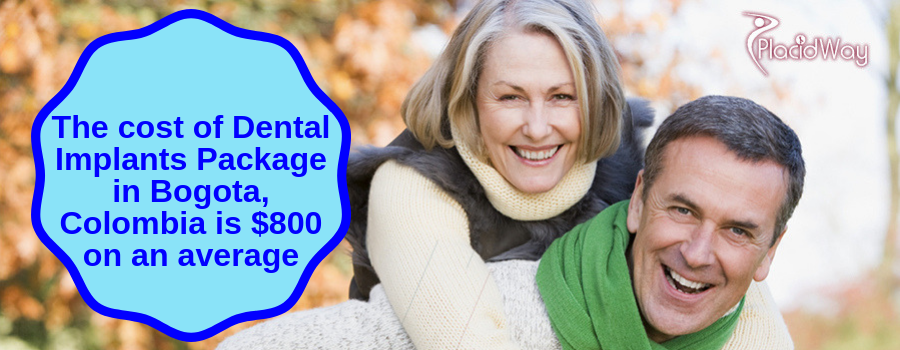 Cost of Dental Implants Package in Bogota, Colombia