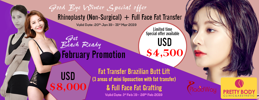 Rhinoplasty & Full Face Fat Transfer Packages At Pretty Body Clinic, Seoul, South Korea