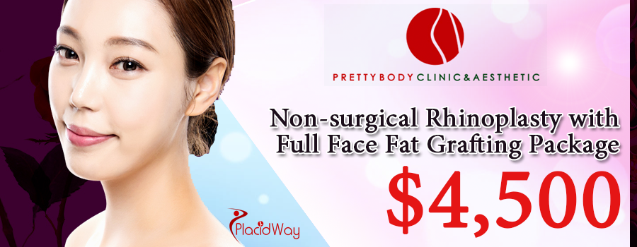 Non-surgical Rhinoplasty with Full Face Fat Transfer Package by Pretty Body Clinic in Seoul, South Korea