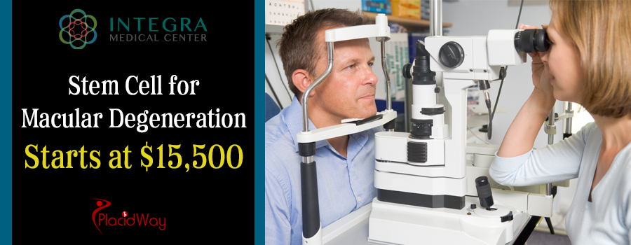 Integra Medical Center the price for Stem Cell Therapy for macular degeneration starts at $15,500