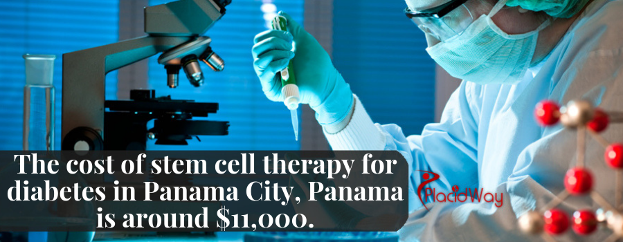 The cost of stem cell therapy for diabetes in Panama City, Panama is around $11,000.