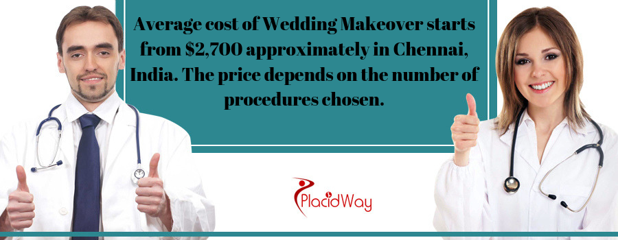 Cost of Wedding Makeover in Chennai, India