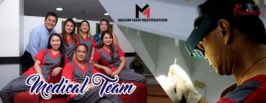 Doctors at MAXIM Hair Restoration, Philippines